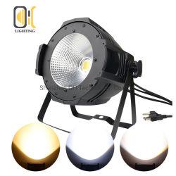 Indicatore luminoso UV di alluminio di fusione sotto pressione di PARITÀ della PANNOCCHIA LED del nero RGBWA+UV 6in1 PAR64 100W per natale del DJ della discoteca della barra del partito della fase del randello