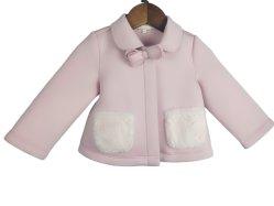 الأطفال لباس فتاة رسمية شدادة القوس حذاء من القطن ادهن بكوات ملابس الطفل الوردي من نوع Fur