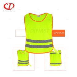Chiusura a nastro Vest di sicurezza riflettente ad alta visibilità per bambini Dfv1046