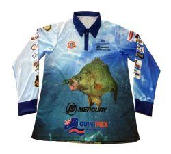 شعار جولدليف بالجملة المخصص UPF 50+ الحماية الأداء في الهواء الطلق 100% قميص صيد أسماك من البوليستر