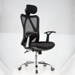 Back Office de alta silla ergonómica de malla de la base de aluminio para Boss