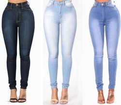 Prix de gros d'usine taille haute Skinny femmes Jeans denim jeans de marque privée