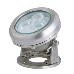 ステンレススチール、ウォームホワイト、自然光が入ります。 LED 水中光を調節できます Squid 用マリンライト 12 V
