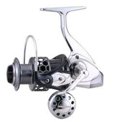 Bobina di filatura di pesca del piede della lega di alluminio con il nuovo perno della maniglia e del metallo della macchina di CNC di disegno