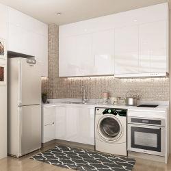Madera blanca Oppein diseños de muebles de cocina despensa para la pequeña cocina (OP18-L05).