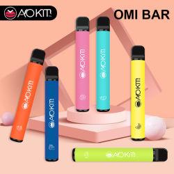 قلم Vape Pen OMI Bar 800 الجديد المخصص الساخن القابل للاستخدام السجائر الإلكترونية التي يمكن التخلص منها