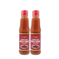 150 مل من ماركة OEM زجاجة زجاج التوابل الصينية صلصة الفلفل الأحمر