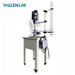 F-20L 20L Labor-Einschicht-Glas-Reaktionskessel mit Vakuum Pumpe und Kühler