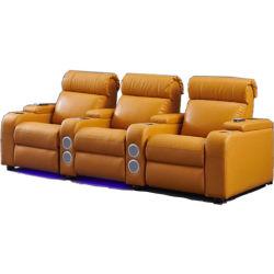 Meilleure vente de l'Italie Cuir Classique Massage canapé de meubles d'inclinaison