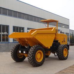 미니 사이트 덤퍼 3톤 전방 팁핑 버킷 로더 4 휠 구동