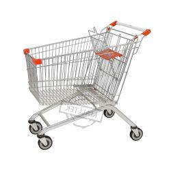 Aço de estilo europeu de Varejo empurre o Carrinho de Supermercado Carrinho de Compras