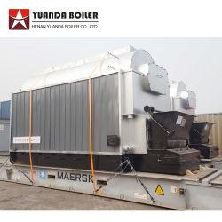 6ton 6000kg 6t de madera de biomasa Calderas de vapor de cascarilla de arroz para la industria textil