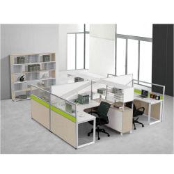 Het hoge Bureau van 4 Eigentijdse Posten van het Werk Seater van de Raad van de Melamine Modulaire