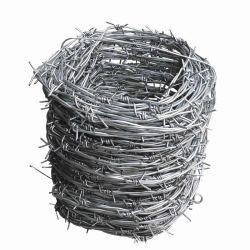 Venta caliente recubierto de PVC de alambre de púas para construcción