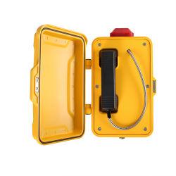 Impermeable amarillo SIP VoIP GSM Teléfonos industriales con alta calidad