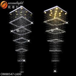 Crystal moderna lámpara de araña de luces luces colgantes colgantes (OM88547)