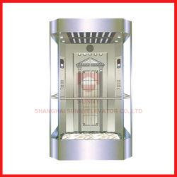 Elevador de pasajeros con vistas panorámicas de vidrio laminado