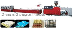 PE PP PVC Profil de ligne d'extrusion de plastique en bois Encadrement de vitre de porte de la machine de production plinthe