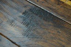 Handscraped Acacia Natural suelos de madera maciza (suelos de madera maciza)