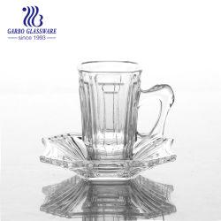 3oz de gegraveerde Turkse Reeks van de Mok en van de Schotel van de Koffie van de Thee van het Glas