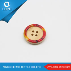 Round Fantasia Oval impressos os botões de madeira