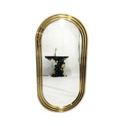 Casa de banho da estrutura de aço inoxidável de ouro a decoração do Espelho Retrovisor Interior
