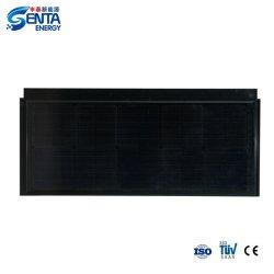 تجانب شمسي بقوة 55 واط مع ألواح تجانب مقاومة للماء من الخلايا الأحادية الوحدات الشمسية 11 فولت - اللون الأسود في وضع أفقي