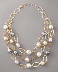 Design personnalisé 925 Sterlingsilver & Baroque d'eau douce collier de perles Bijoux