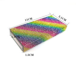 3D منك العين مع تخصيص مربع رماد غسيل بالجملة لاشيس3d بائع الجملة 25 ملم