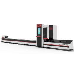 Fachkundiges rundes quadratisches Vierecks-ovales Gefäß-automatisches Laden Gefäß-Laser-1000W 2000W, das Stahl-CNC-Metallgefäß-Rohr-Faser-Laser-Ausschnitt-Maschine aus dem Programm nehmend führt