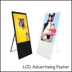 43-inch ultraslanke draagbare LCD-display met opvouwbare advertentiespeler Digitale mediaspeler