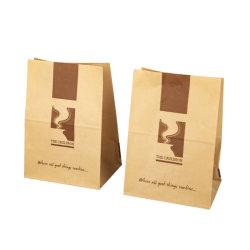 Reciclável grossista Ecológico Kraft Grandes Custom embarcação efectuar compras impresso Brown Saco de papel Kraft