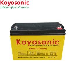 Batterie rechargeable 12V 100Ah batterie solaire Batterie au gel à cycle profond