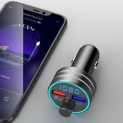 QC 3.0 de Snelle Speler van de Uitrusting van de Auto van de Haven USB van de Last Dubbele MP3 met het Digitale Scherm