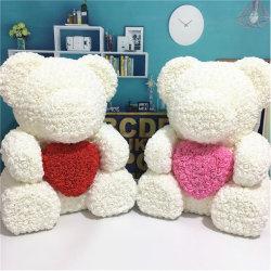 """Regalo perfetto di 28 """" /70cm del fiore artificiale dell'orso Handmade della Rosa per il vostro amore"""