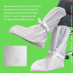 Polypropylen Nonwoven/PP/SMS/PP+PE/Medical/Surgical/Hospital/Plastic/Polyethylene/Poly/HDPE/LDPE/Waterproof Wegwerf-CPE-Aufladungs-Deckel, Wegwerf-PET Overboots