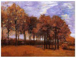 Het beroemde Olieverfschilderij van Kunstenaars, de Reproductie van het Olieverfschilderij van het Meesterwerk, het Landschap van de Herfst (1885years) - Vincent Willem Van Gogh