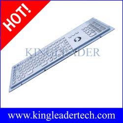 기능 키와 트랙볼 이 있는 스테인리스 스틸 방수 트랙볼 키보드