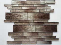 Коричневый цвет слоистого стекла мозаики инь и ян/Оформление/Стены Panles для монтажа на стену стеклянной мозаикой из камня /ПВХ пластика оформление/внутреннее оформление