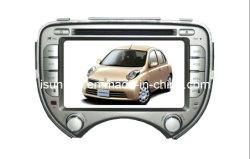 Isun 2 DIN 7인치 800 * 480 디지털 터치 스크린 카 Nissan March용 스테레오 GPS(TS7256)