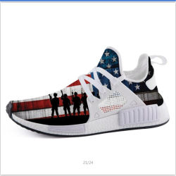 Casual Custom American Military Patriotic Fashion Hochwertige Sneaker Drop-Shipping Sport Laufschuhe