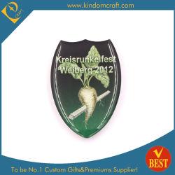 공장 가격 사용자 지정 디자인 자신만의 로고 Shield 모양 오프셋 에폭시 군사용 코인 라펠 핀 이름 배지 인쇄