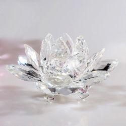 Belle décoration colorée K9 Crystal fleur de lotus