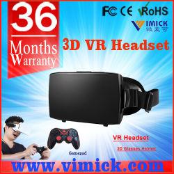 Матовый черный цвет пластика мобильному телефону 3D-Vr виртуальная реальность очки с магнитом и переднюю крышку и губка