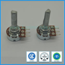 Potentiometer 16mm B10k D-Schacht Roterende Potemtiometer van lage Kosten