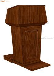 Folheado de madeira Mesa fala púlpito pódio para Mobiliário escolar