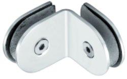 Douche en acier inoxydable de 90 degrés du connecteur du panneau de verre (FS-512)