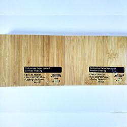 Pavimentazione di bambù carbonizzata verticale della lacca UV solida