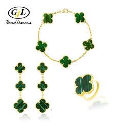 Новый дизайн украшения, Малахитовый перламутр Onyx Earring ожерелье браслет кольцо мода Ювелирные изделия