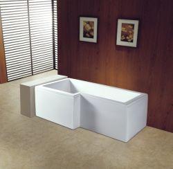 L BRITANNICA vasca di bagno dell'acquazzone del pannello esterno di figura